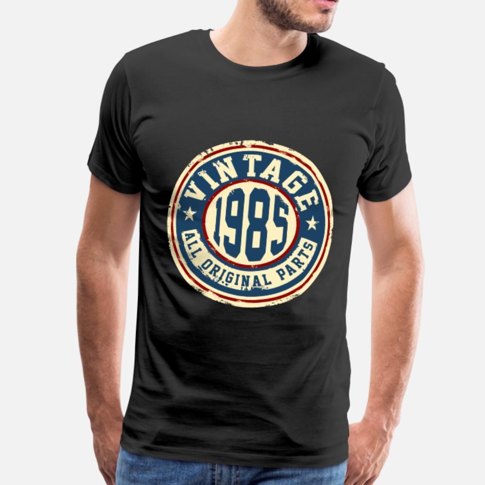 Vintage 1985 hombres de la camiseta Impresión camiseta del tamaño de la camisa S-3XL Tendencia regalo cómico de primavera Único