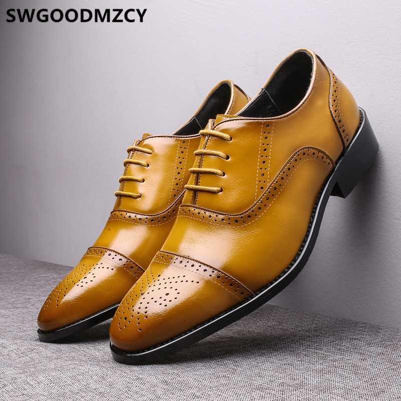 do vintage homens sapatos brogue homens clássicos vestir sapatos de moda vestido de couro formais tamanho grande 48 casamento