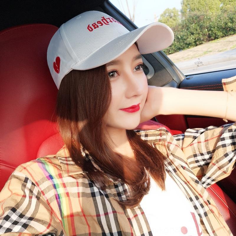 estilo coreano moda verão todo-jogo atingiu o pico sol chapéu superior chapéu feminino cap estudante Rua ins boné de beisebol das mulheres do sexo feminino