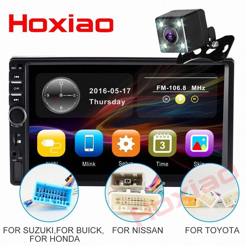 2 Din Car Radio 7 HD MP5 Touch Screen Display Digital Bluetooth Multimedia USB 2DIN carro Rádio Reserve Monitores 7018B Jq3p #