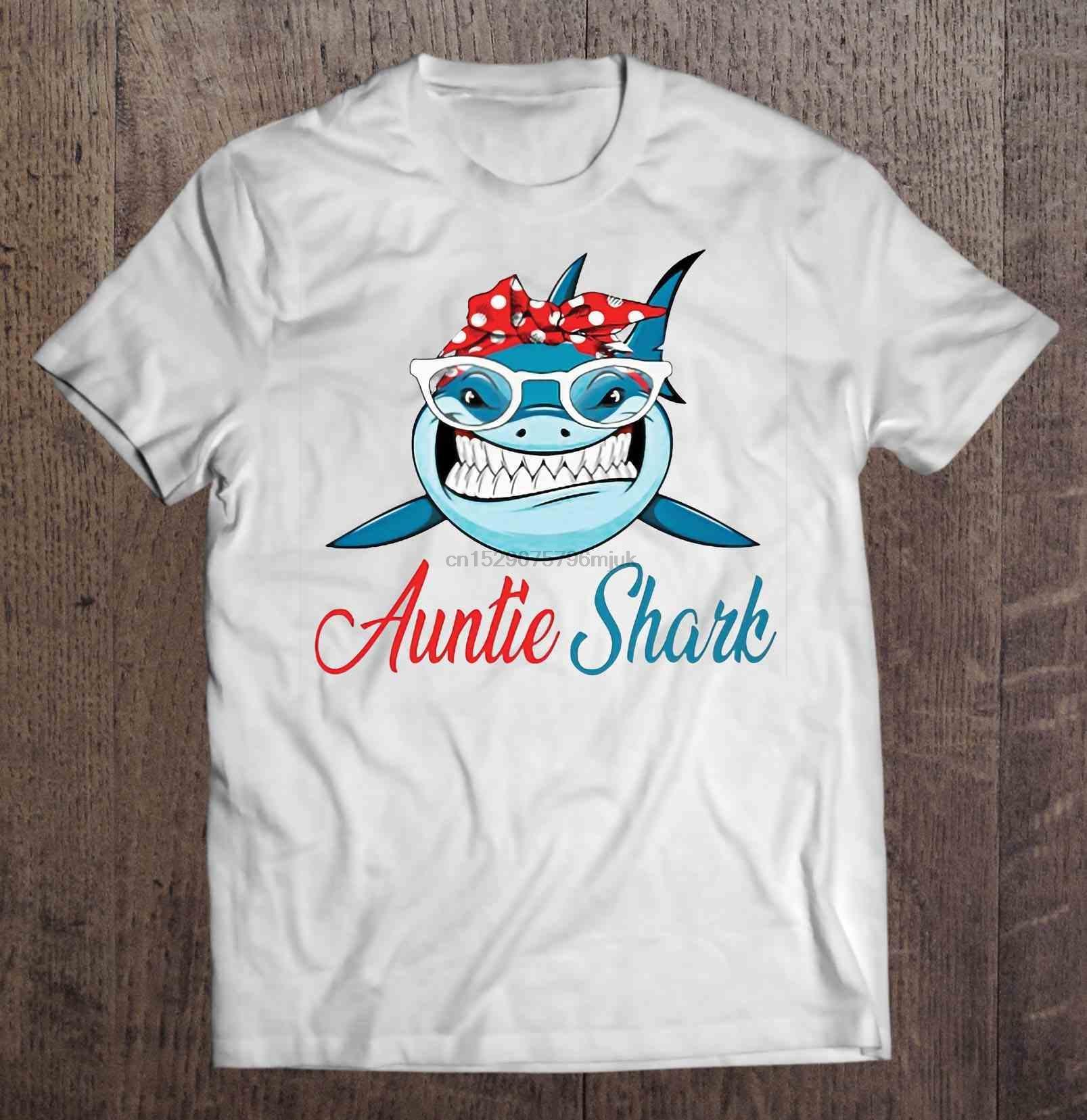 Мужчины Футболка Бандан Тетушка акула Женщина футболка