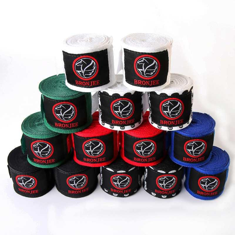 108inches/180inches Cotton kick wrist straps Sport Strap Elastic Boxing Bandage Muay Taekwondo Hand Wraps Hand Protection