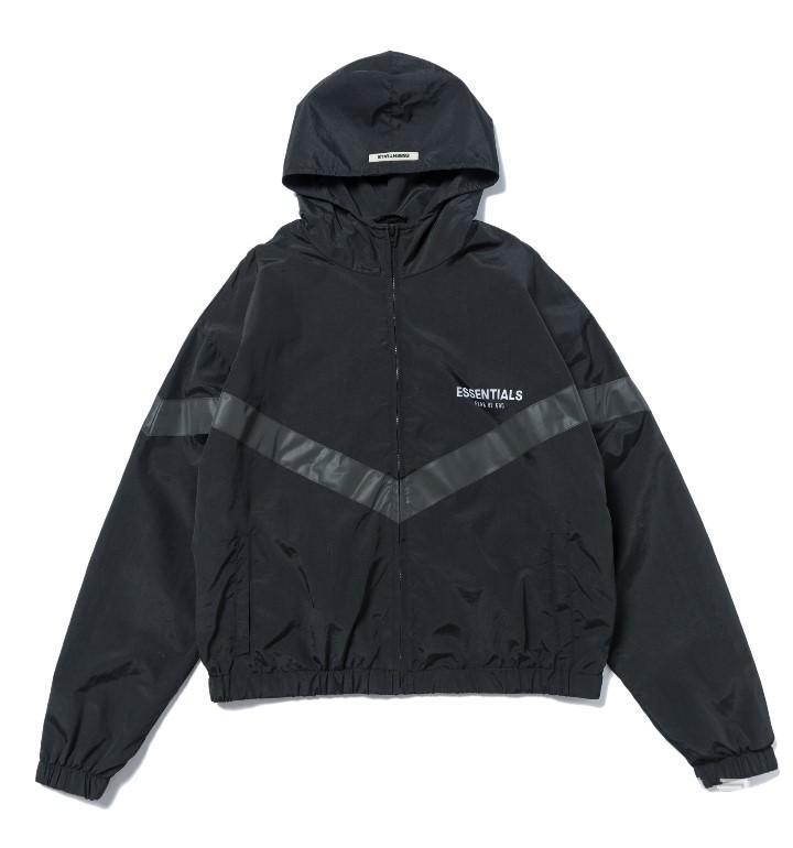 2020SS Stagione 6 New primavera / autunno FOG doppio-Line Jacket FEAR OF GOD Giacca con cappuccio ESSENTIALS 3M Reflective Uomo