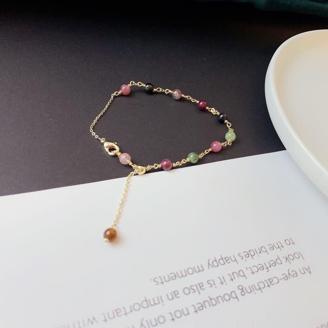 Verano Summer Girl estilo de joyas pulsera turmalina dulces de caramelo sencilla pulsera nueva DQDft