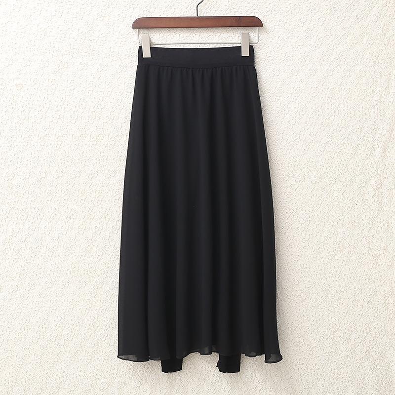 Ee9fl femmes leggings style manteau de printemps pour femmes de 2020 coréen et automne nouveau faux vêtements d'extérieur pantalon deux pièces pantalon jupe en mousseline de soie mince une