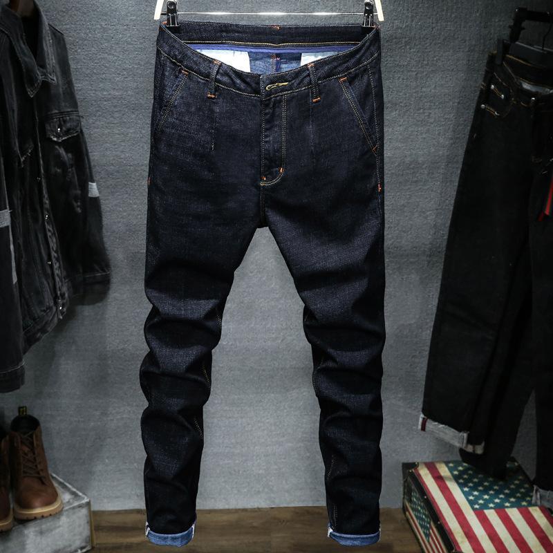 Stretch-Denim-Jeans Mann elastische beiläufige dünne Jean Hosen-Mann-Jeans 2020 Casual Male Stretch Geschäfts