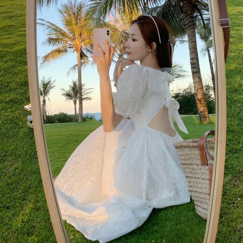 r0x9j Fee Super-gqFOn Französisch 2020 wissen Liebe neue Blase Hülse Kleid des Sommer der Frauen elegant erstes süßes Kleid