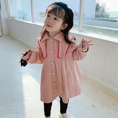 Baby Girls Trench Veste 2020 Filles de l'automne nouveaux enfants solides à long coupe-vent Princesse Robes Trenchs Outwear