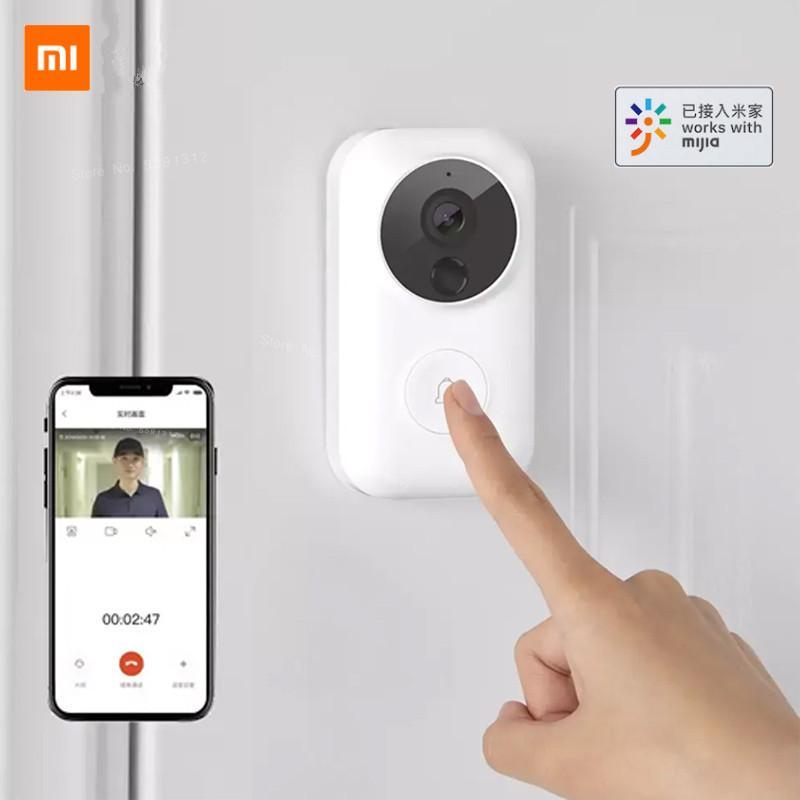 نقل XIAOMI Mijia فيديو الجرس 2 لايت AI الذكية بواب الإنسان ليلة كشف الحركة سحابة التخزين صوت تغيير مع مي المنزل