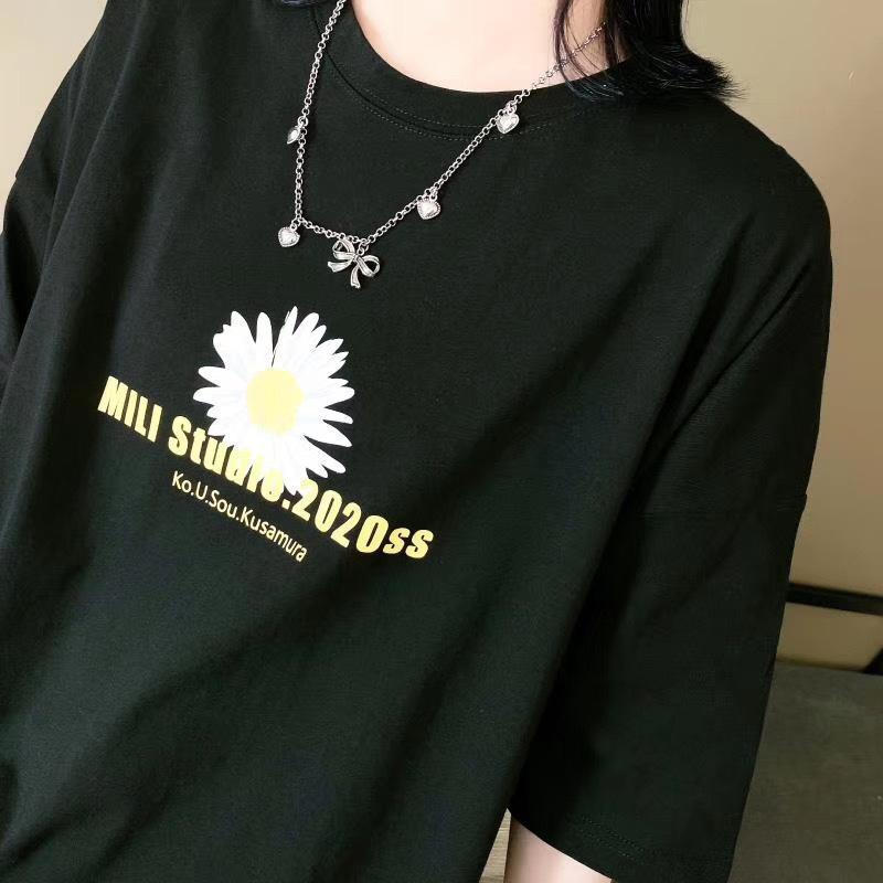 E2WRZ e Half maglietta del manicotto del cappotto capote estate maglietta rotonda casuale pelle-amichevole 2020 donne della molla nuove sciolto versatile stampato r7QUd n