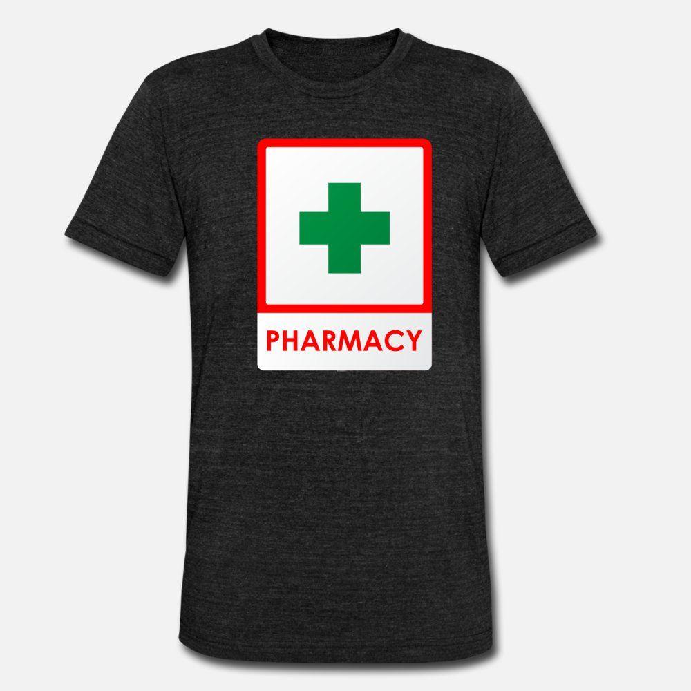 Pharmacie t shirt homme coton caractère Col rond famille en vrac Printemps Automne Bâtiment chemise standard