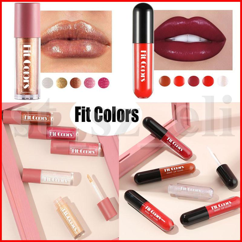 Fit Colors Lip Makeup Shine Velvet Liquid Lipstick Glitter Star Lip Gloss Lipgloss Set 10 Colors
