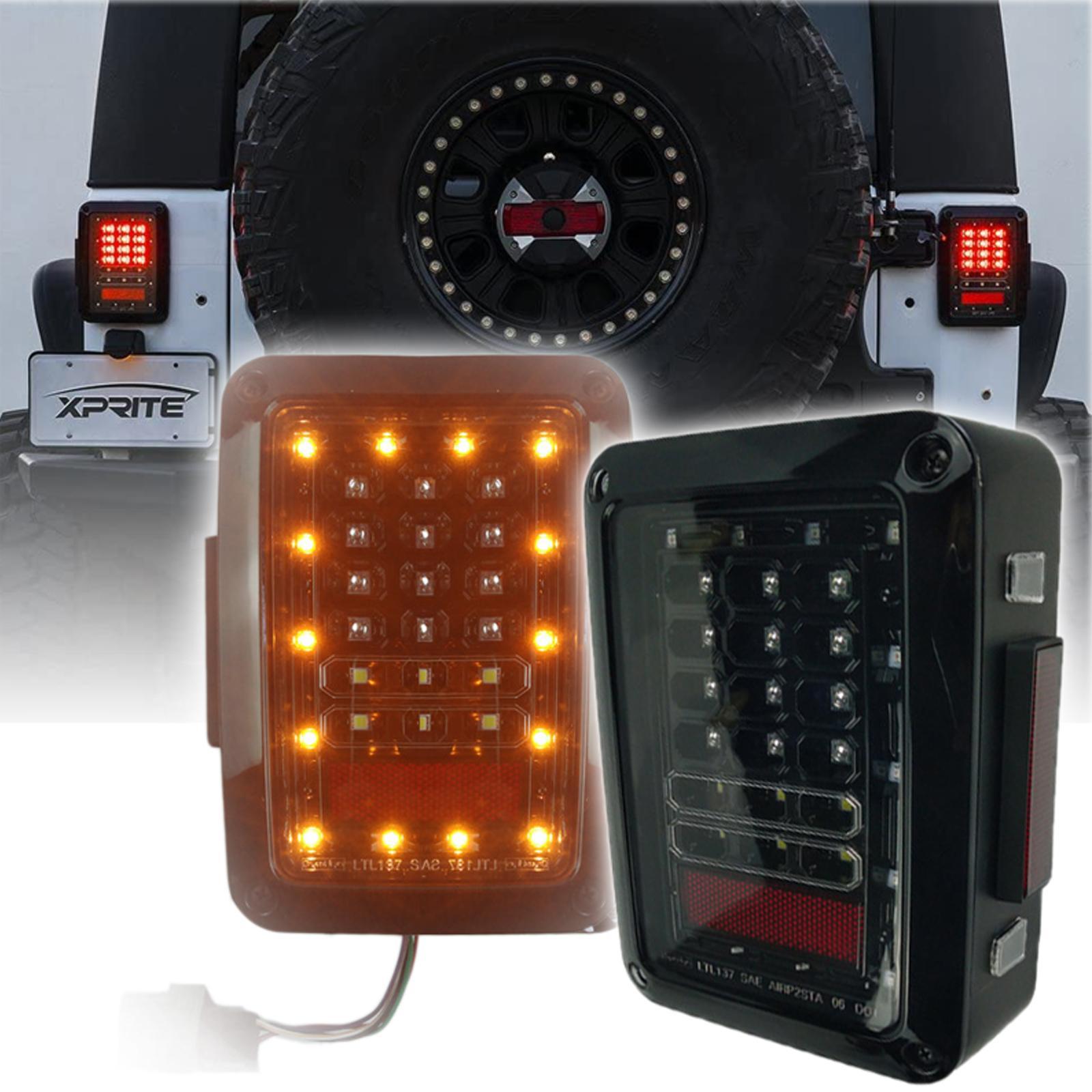 Luci di coda a LED per nuovo Jeep Wrangler 2007 JL 2018 freno posteriore Cowgirl Fanali posteriori