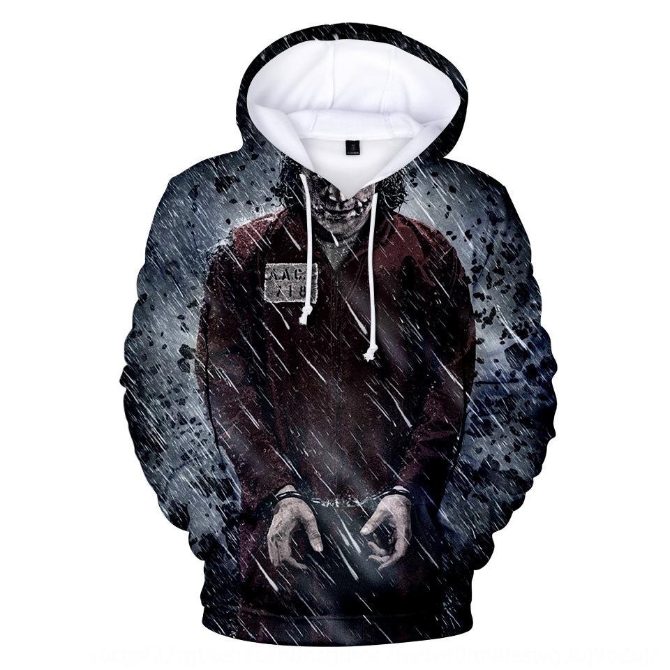 camisola palhaço Digital diabo camisola dos homens 8La8X Joker e moderno com capuz de impressão digital 3D das mulheres