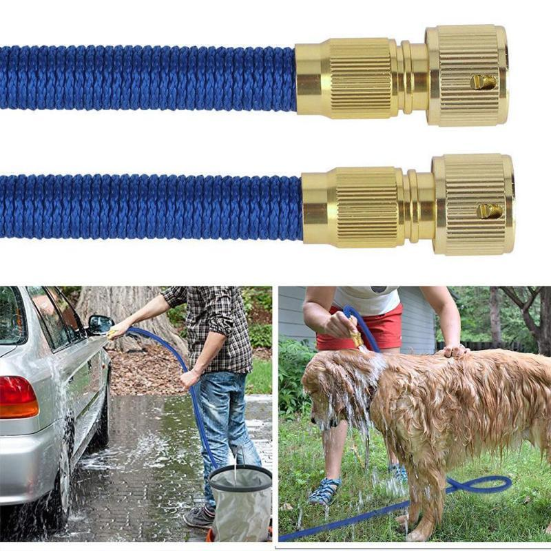 Garden Hose Water Expandable Watering Hose High Pressure Adjustable Wash Garden Car Tools Pipe Magic T5Y5