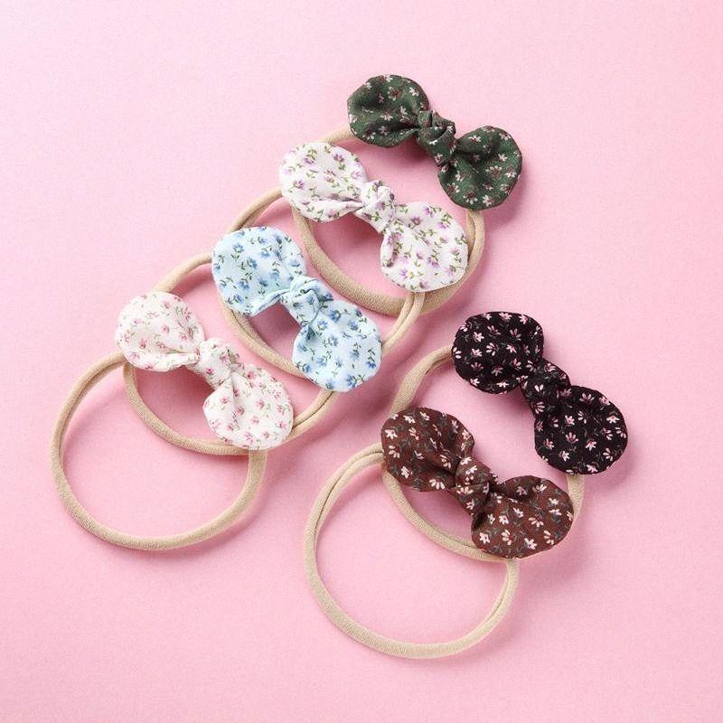 Boutique Art und Weise nette Blumenbogen-Super Soft Haarbänder Fest Blume Ears Bowknot Nylon Stirnband Prinzessin Headware cqTI #