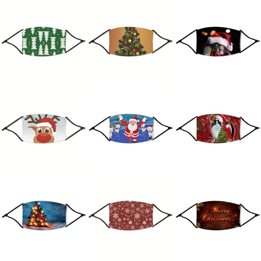 Toptan olarak Stok Çocuk Noel Maske Pamuk Rahat Kız Yüz Noel maskeler 3-Katmanlı Moda Tasarımcısı Maske toz geçirmez Ea # 88433