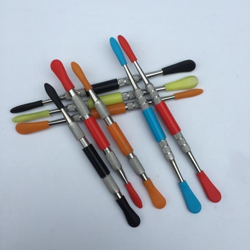 왁스 건조 허브 유리 스테인레스 스틸 전자 담배 dabber 도구 티타늄 소량 손톱이 ATMOS를 프라이팬 마이크로 분무기 기화기 펜