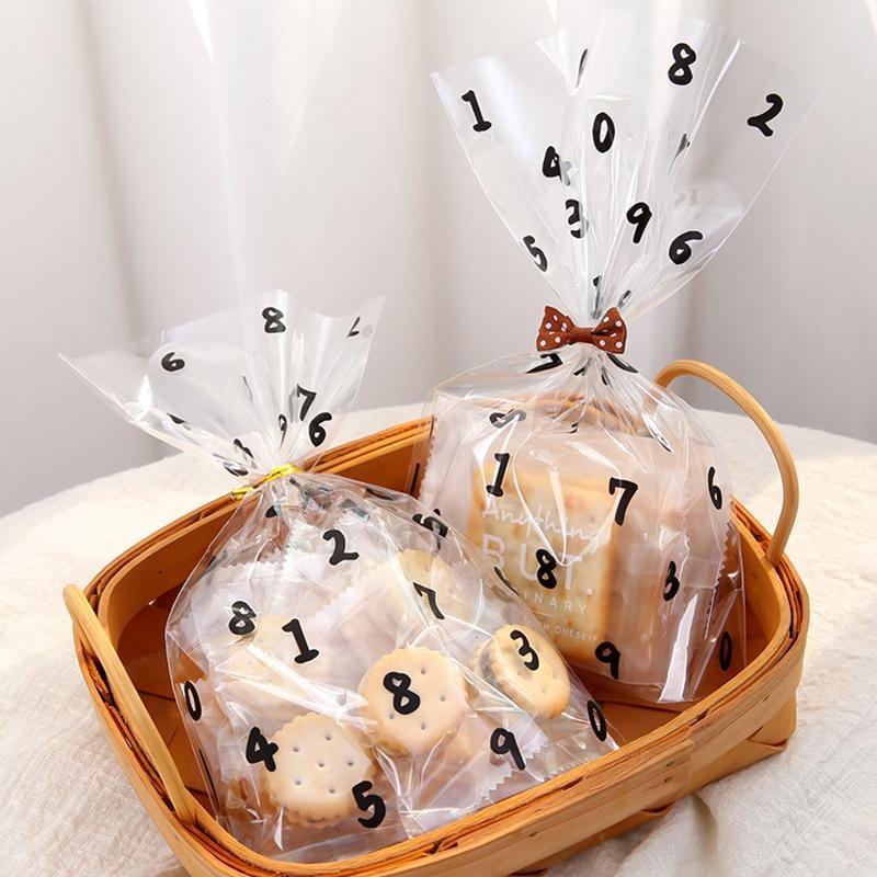 Regalo Wrap Digital Pattern Christmas Bag Bag Cookie Borse Candy Borse Plastica LollyPop Pane Imballaggio Partito Decorazione di nozze Decorazione di cioccolato