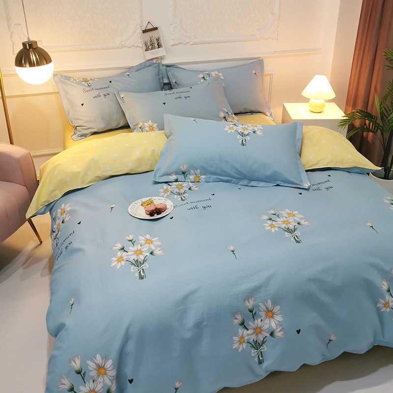 100% Cutton Plant and Flower Series Super Breathe Skin Friendly Queen King Size Luxury Comforters Bedding Sets AMS29030