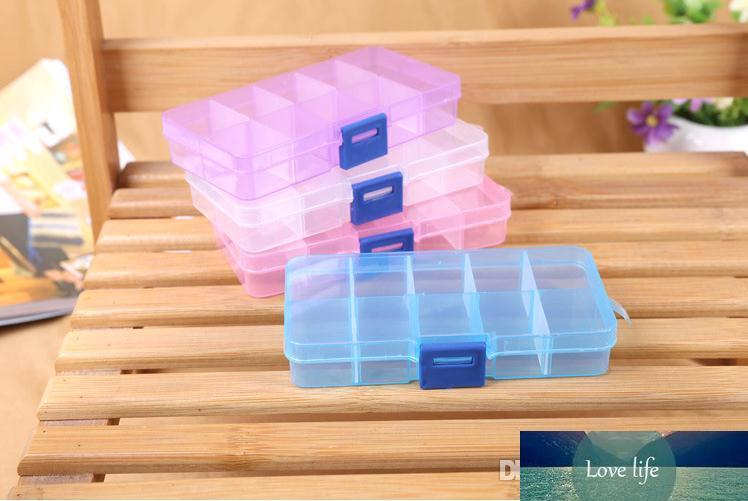Wholesale Hot sale Colorful 10 Compartments Jewelry Beads Container Storage boxes 10 Grids Plastic Box