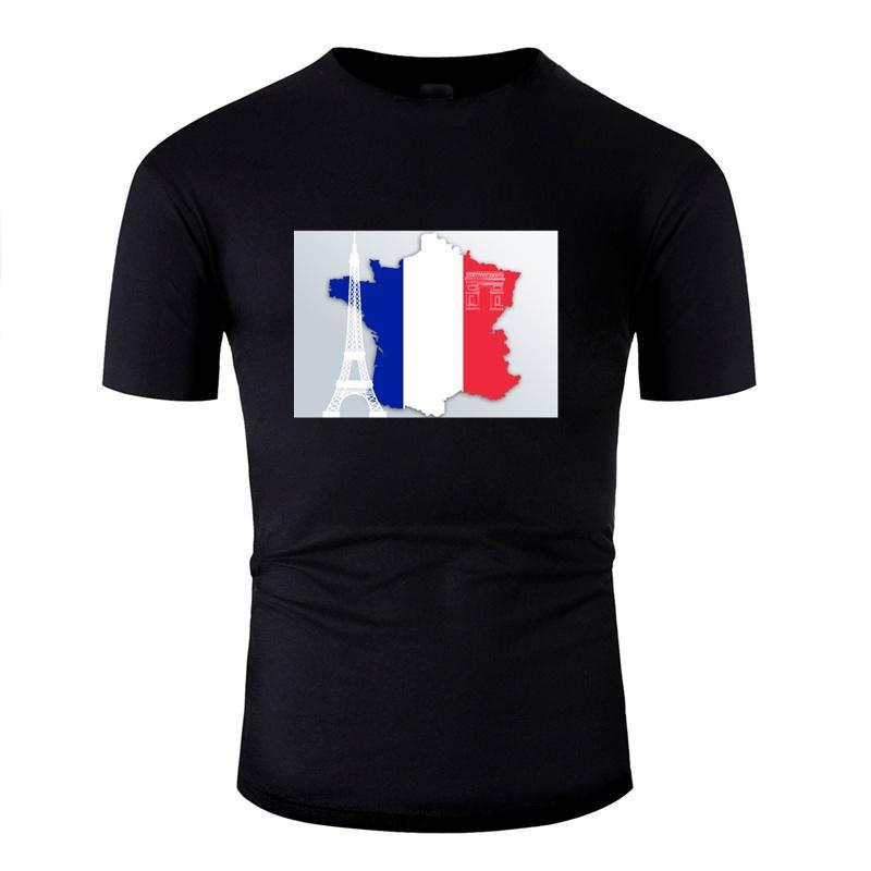 Örme Çılgın Fransa Bayrağı Tişörtü Adam% 100 Pamuk Harajuku Tişörtler Homme Büyük Beden 3XL 4XL 5XL Camisetas Hiphop