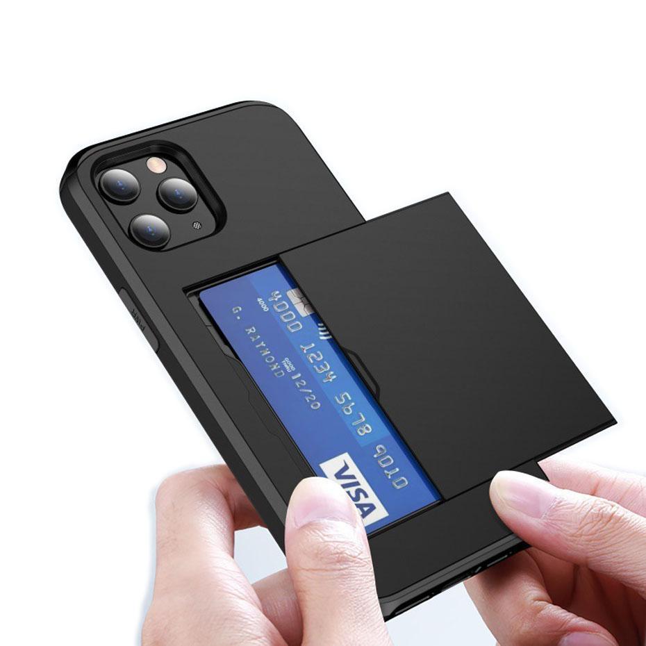 SGP Stoß- Rüstung Heavy Duty Kasten mit Einbauschlitz für iPhone 12 11 pro max Samsung Galaxy Note20 S20 Ultra-Einbauhalb gewickelt Abdeckung