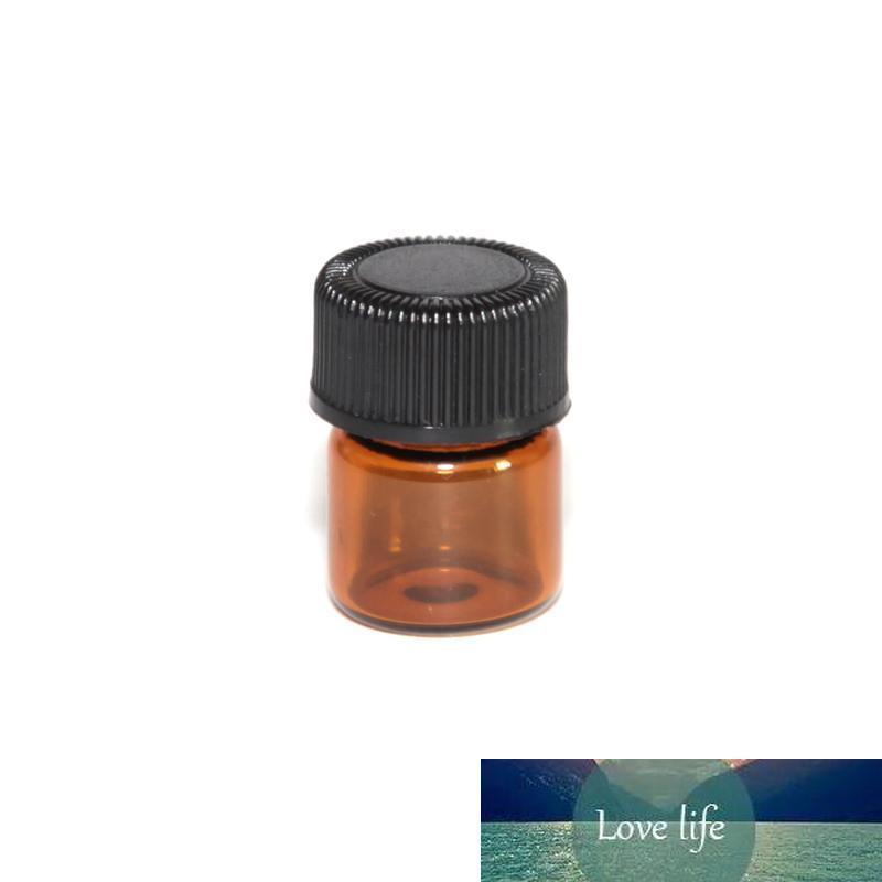 1ml 2ml 3ml (1/4 Dram) Ambra Glass bottiglia di olio essenziale di profumo tubi campione Bottiglia con Plug and Caps 5/8 Dram