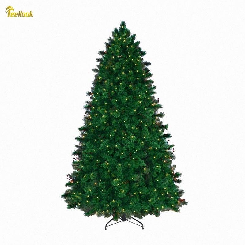 Teellook 1.2m / 3.0m Şifreli Parlayan Noel ağacı Noel Otel Alışveriş Ev Dekorasyon Santa Noel Süsleri Santa Decora lhFl #