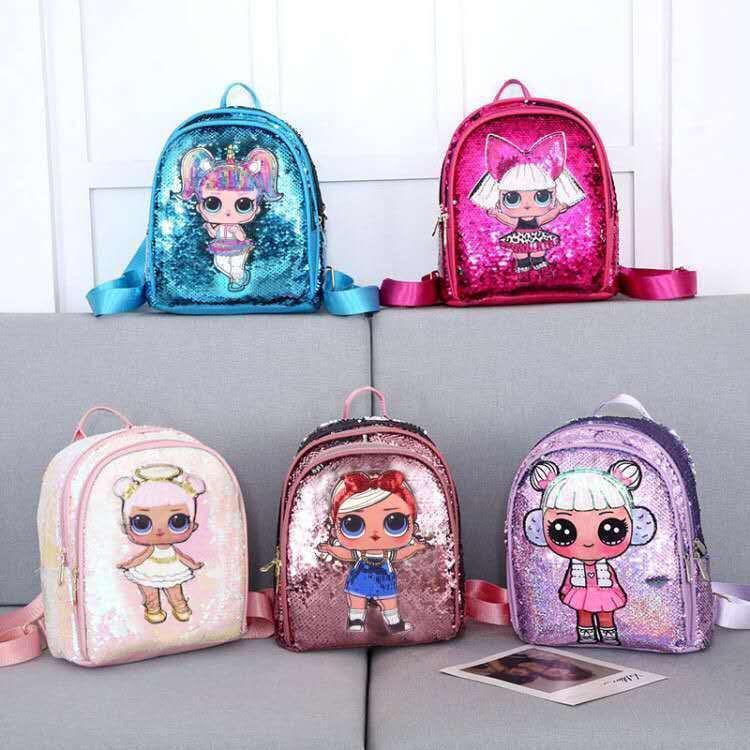LOL Dolls bambini SORPRESA sacchetto di scuola sacchetto sveglio Plecak 3d sacchetto del fumetto Stampa Giocattoli svegli Anime zaino dei bambini per le ragazze