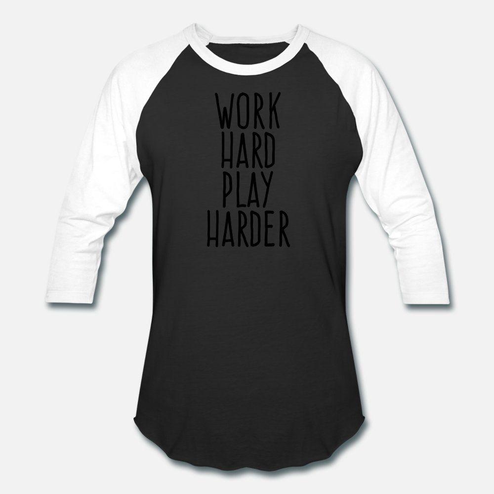 Трудолюбивый Play Harder т рубашка мужчин Проектирование 100% хлопок O шеи Костюм Фитнес Повседневной Летний стиль Природной рубашки