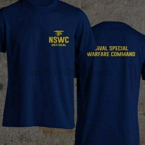 Navy Seal germogli NSWC Udt Seal Hell Week Blu Nero e blu S-3XL T-shirt