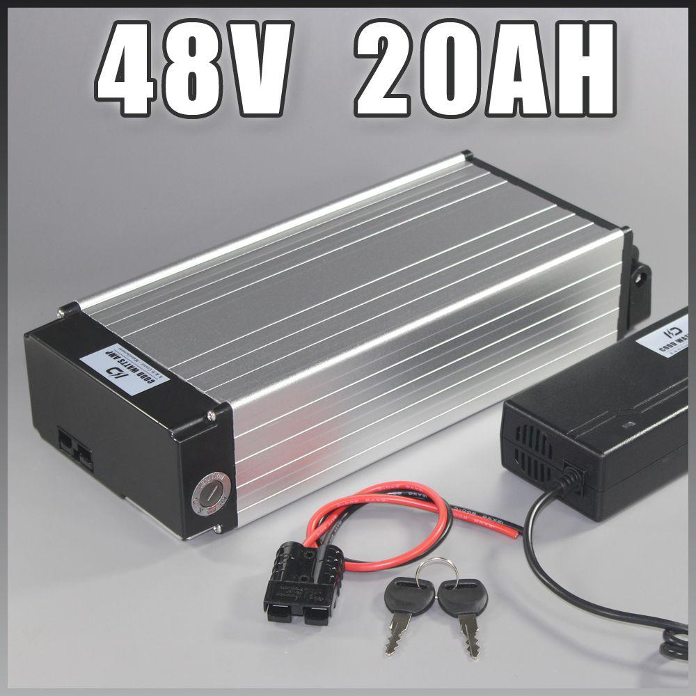 batteria elettrica della bici 48v 20Ah Samsung ebike della batteria agli ioni di litio posteriore cremagliera con 1000W BMS UE USA NO TAX