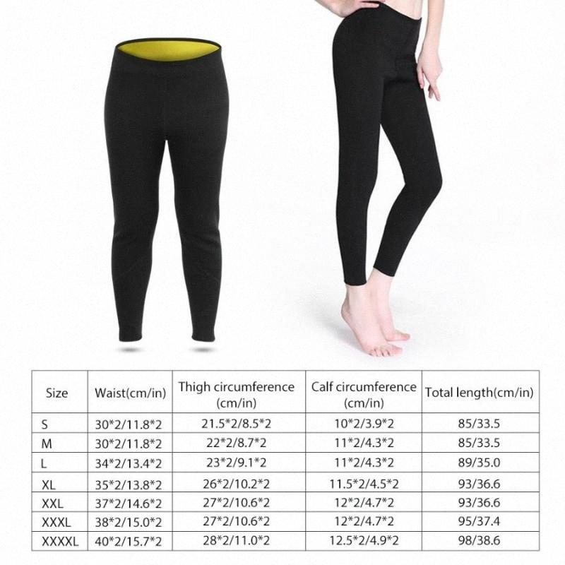 Yoga Legging Neopren Männer Frauen Fitness Abnehmen Sauna Legging Hosen Hot Sweat Body Shape Seamless Yoga für Fitness VArj #