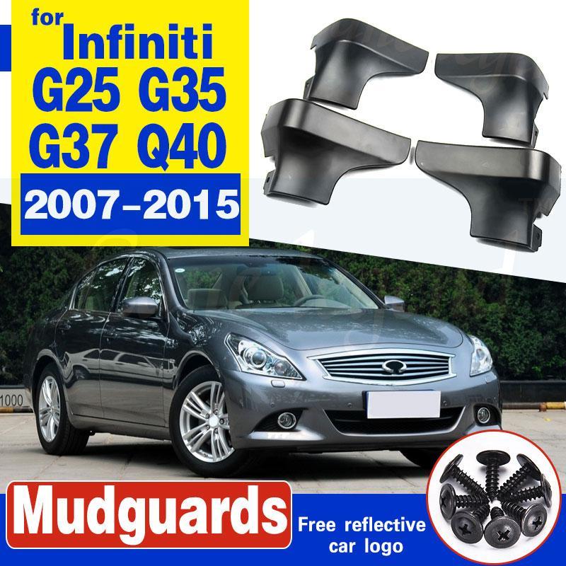 Bavettes voiture pour Infiniti G25 V36 G35 G37 Q40 2007-2015 boue Rabats Garde-boue Garde-boue arrière à rabat avant 2010 2011 2012 2013