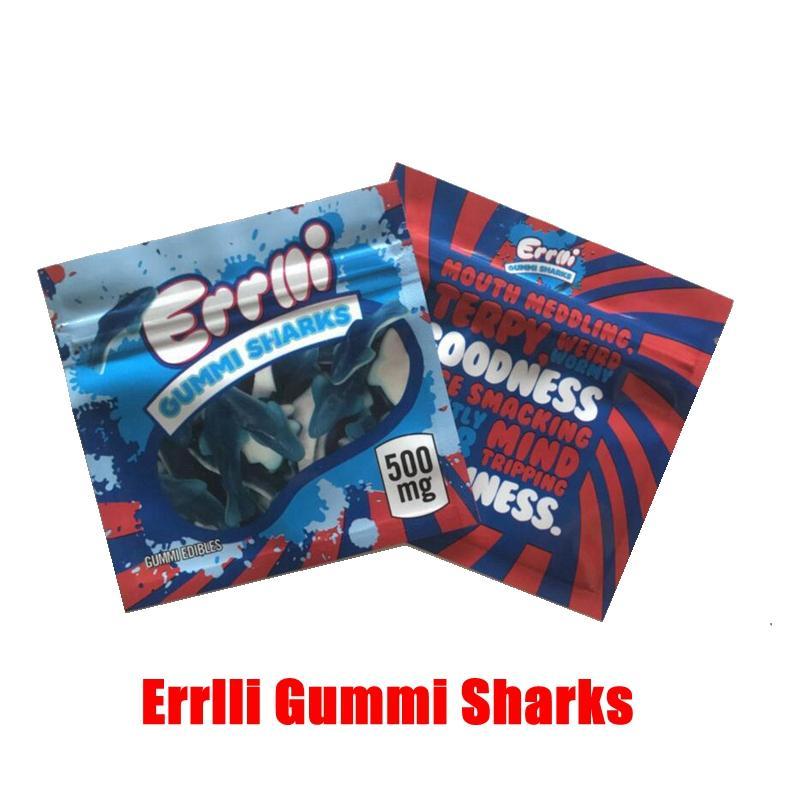 새로운 500mg을 Errlli 구미 상어 식용 포장 봉투 600mgSour Terp 크롤러 증거 가방 탄두의 가장자리 잘라 내고 냄새가 빈 사탕 마일 라 가방을 먹을 거 천지