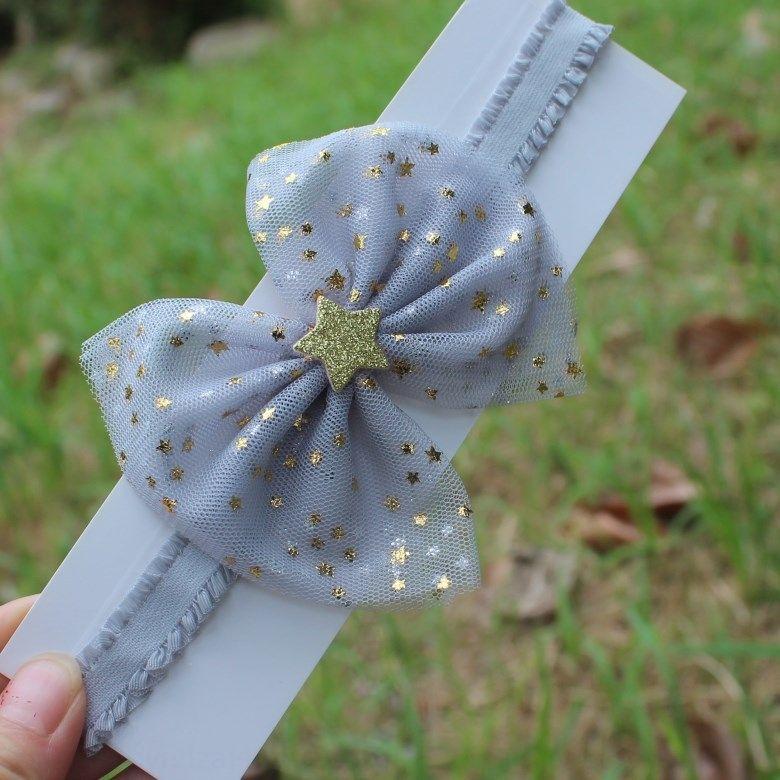 Корейский стиль бабочки новые сетки бабочки девушки розовые звезды полосы младенца вспомогательного оборудования волос диапазона волос младенца оголовье