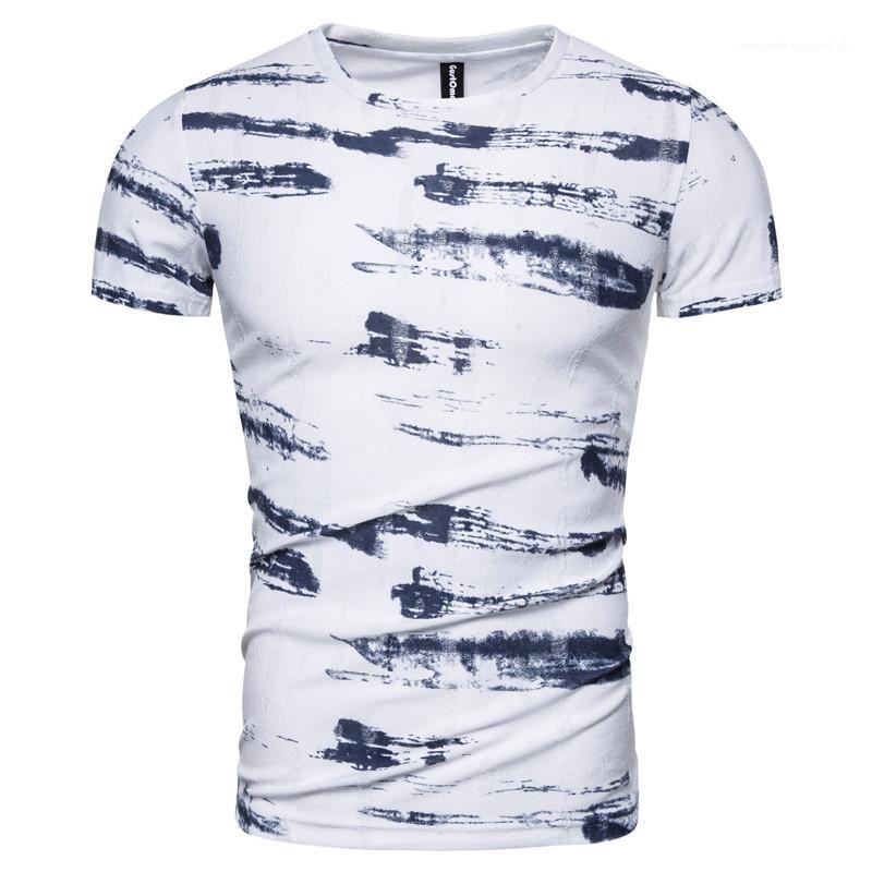 Короткие повседневные футболки Print Summer New 2020 Мужские Высокий Дизайнер T Streetwear Мужская Качественная Рубашка Мужская Рукава Рубашка Рубашка INKIE