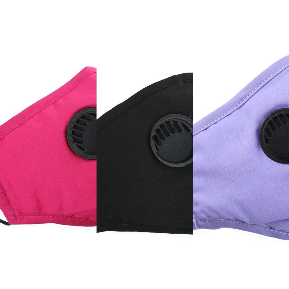 Maschera PM2.5 Fronte Con cotone parapolvere della valvola mascherina mascherine Lavabile bocca età Donne Uomini riutilizzabile M832R VGDH