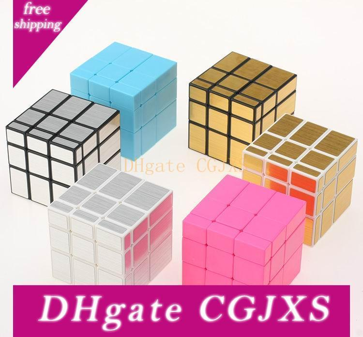 Mirror Magic Cubes 3x3x3 Professional Magic Cast Coated Puzzle Speed Cube Toys Twist Puzzle Creative Gifts 6 Colors