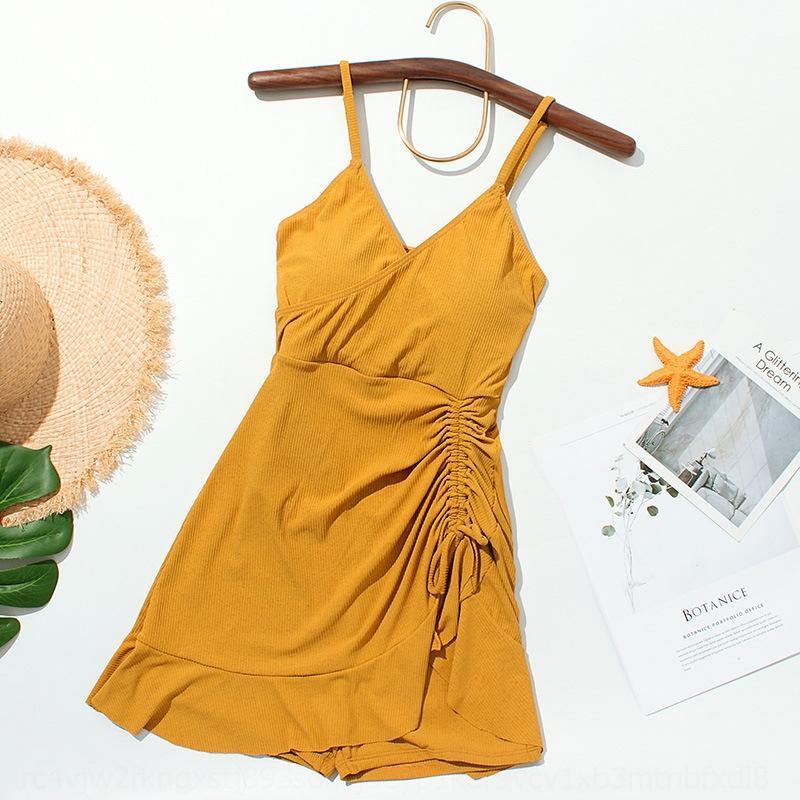 JFXgM wGv5P nuovo un pezzo nuotare coreano piatto angolo di supporto in acciaio dimagrimento vestito conservatore delle donne del ventre copre raccolte nuoto costume da bagno