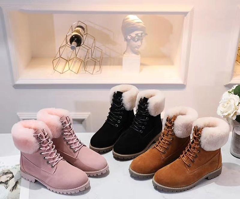 2020 Australia Women Bottes de neige filles marron fourrure classique cheville Arc court de neige d'hiver Bottes Bailey Bow cheville Noir Gris Bottes en cuir