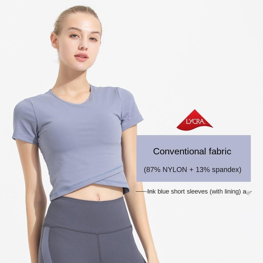 Профессиональные йоги топ шорты и шорты женщин с короткими рукавами летом сексуальной модой короткой спортивного костюма пригодности с груди площадка D04Rt