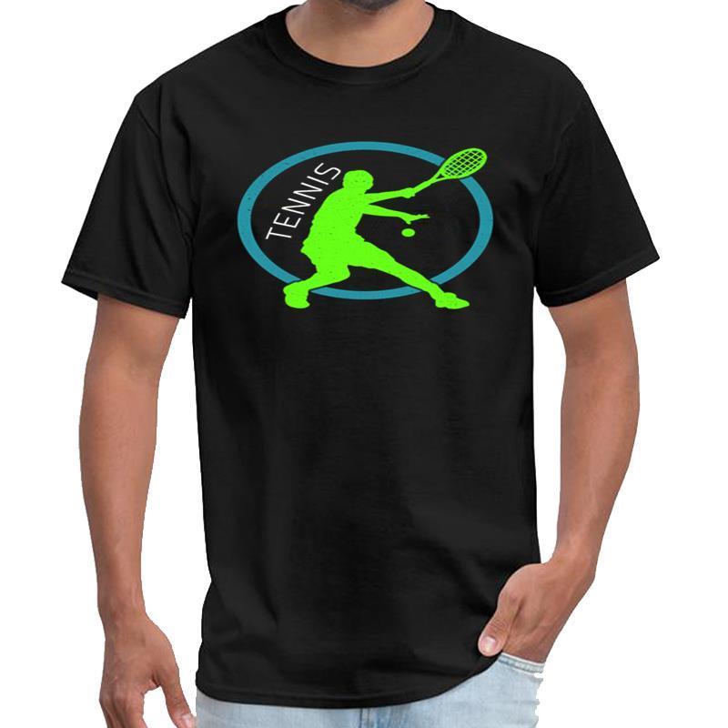 Stampato Tennis Player racket ball Serve gioco Amo il tennis t-shirt homme homme xxtentacion t parti superiori del T della camicia s-5XL