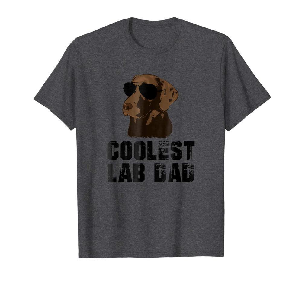 Mens Coolest Laborvati-T-Shirt Lustige Schokoladen-Labrador-Vati-Hemd der beiläufigen Männer Outwears populäres Design Hip Hop Anime Make Shirts