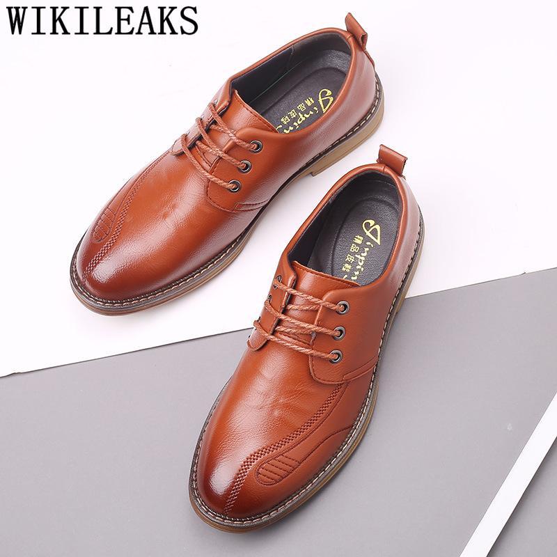 Mens formais genuíno sapatos sapatos de couro Corporativos para homens italiano para homens negros Oxford Chaussure Homme Mariage Buty Meskie