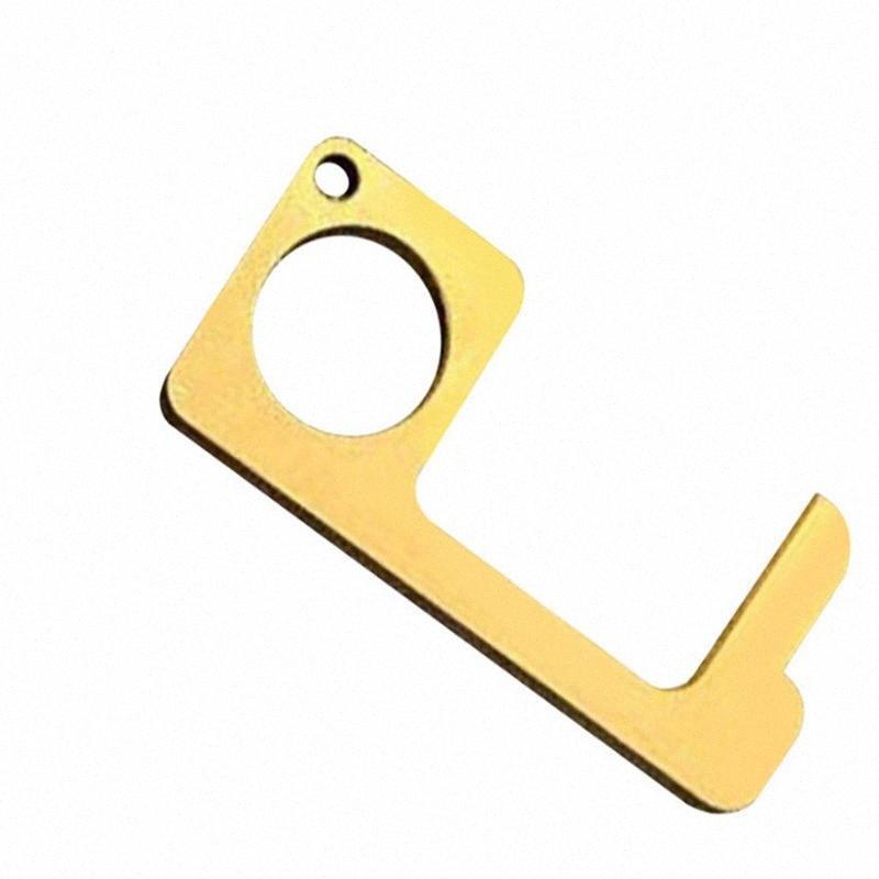 Portable EDC Ouvre-porte porte-clés en alliage d'aluminium métallique anneau trousseau porte-clés de commande de contact ouvreurs outil de T1I2009 Cb6A de #