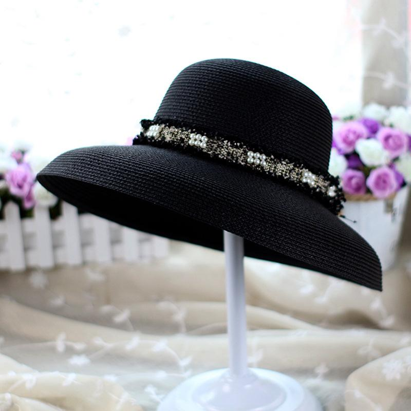 Hot Sale Summer Outdoor Teenager Straw Hats England Style Beach Sun Hat Women Wide Brim Hats Sun Protection Hat