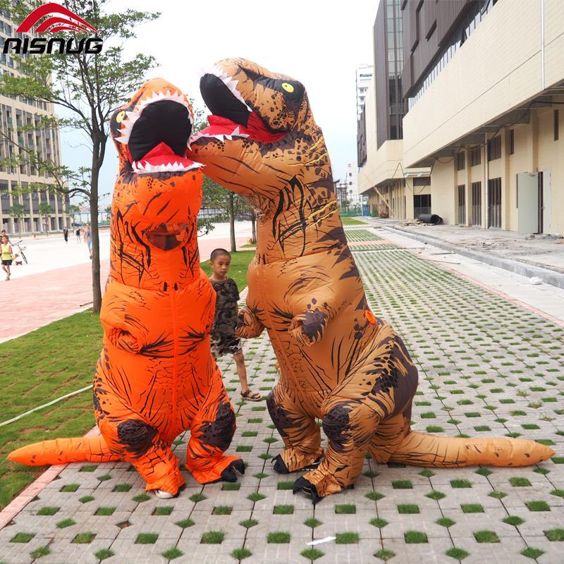 Пурим т рекс Динозавр Надувной костюм талисмана Jurassic World Halloween Надувной т рекс костюм для взрослых детей Cosplay партии