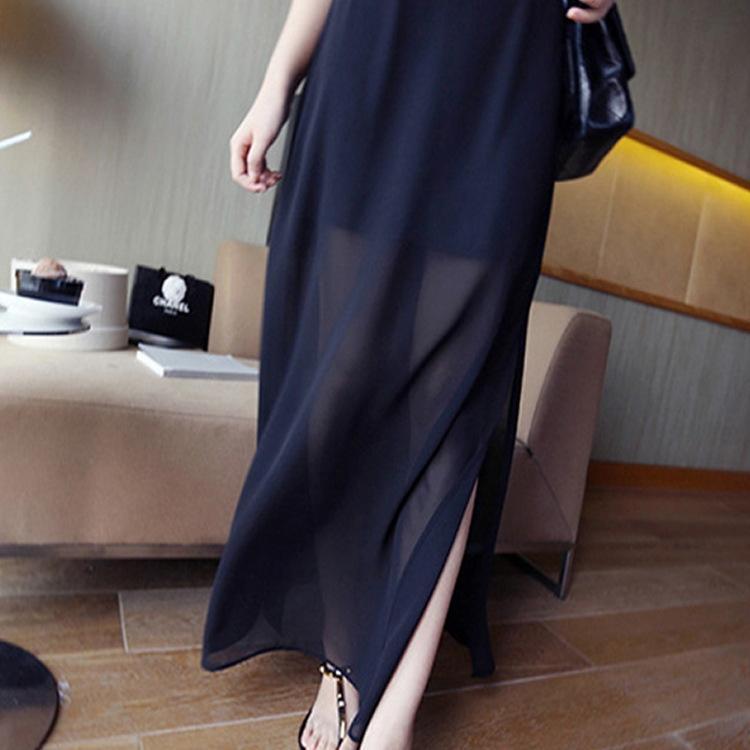 Coreano stile falso in due pezzi lato chiffon di GQeeW vocpT Donne diviso corpo pannello esterno dell'anca e hip pannello esterno dell'anca coperto sottile elegante